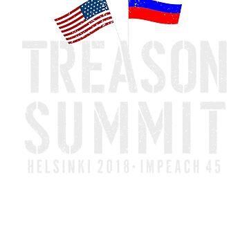 #treasonsummit Impeach Trump 45, Putin Shirt - Helsinki Summit Hashtag t-shirt by T-Heroes
