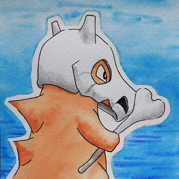 Cubone [watercolour] by CornyMistick