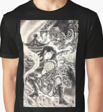 Classic Vintage Japanese Demon Ink Tattoo Graphic T-Shirt