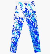 Leggings Splash and Drip Blue Art