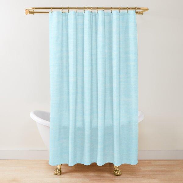 Powder Blue Slight Texture  Shower Curtain