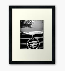Black and White Cadillac Framed Print