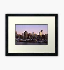 Vancouver Evening-1982 Framed Print