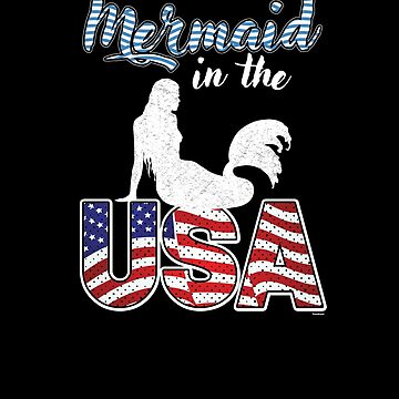 Mermaid In The USA by TomGiantDesigns