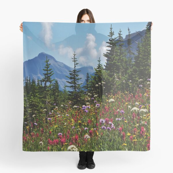 Mountain Wildflowers Scarf