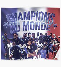 Champions du monde - france worldcup champion Poster