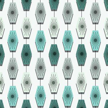 Mid Century Modern Pattern by thepixelgarden