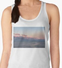 Breezy Pink and Blue Waterscape Women's Tank Top