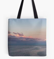 Breezy Pink and Blue Waterscape Tote Bag