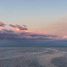 Breezy Pink and Blue Waterscape by Georgia Mizuleva