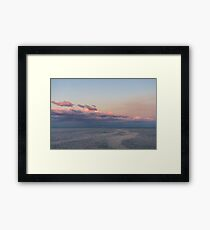 Breezy Pink and Blue Waterscape Framed Print