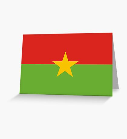 Burkina, national id Greeting Card