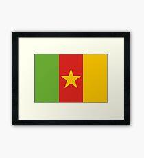 Cameroon, national id Framed Print