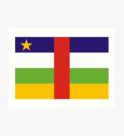 Central-African-Republic, national id Art Print