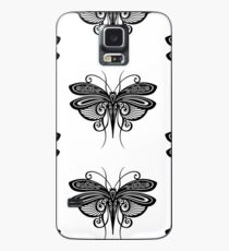 Black and White Illustration of Exotic Grasshopper Case/Skin for Samsung Galaxy
