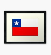 Chile, national id Framed Print