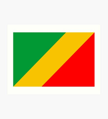 Congo, national id Art Print