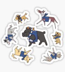 kakashi's dogs Sticker