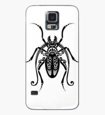 Black and White Illustration of Exotic Beetle Case/Skin for Samsung Galaxy