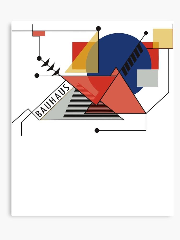 33f374355 Bauhaus Manifesto Movement, 1919 Walter Gropius, Artwork Reproduction  Canvas Print