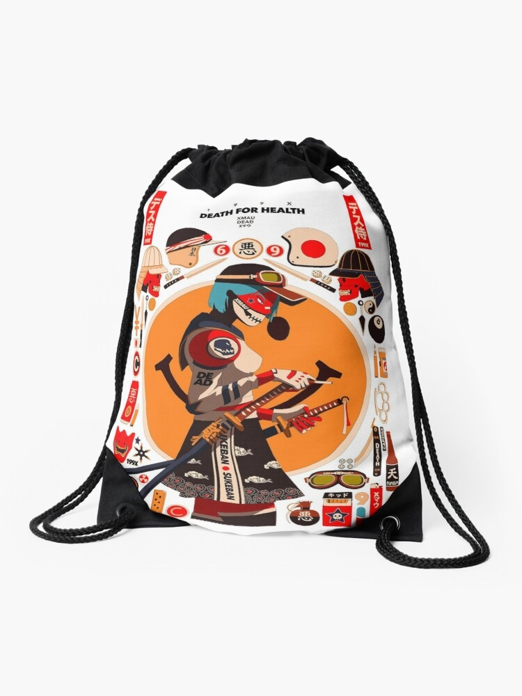 8e38e8e4a64a Hypebeast Girl Cartoon Art Ninja Samurai Girl Streetwear | Drawstring Bag
