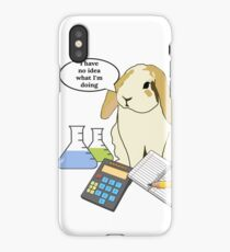 Chemistry Bunny Rabbit - I have no idea what I'm doing iPhone Case