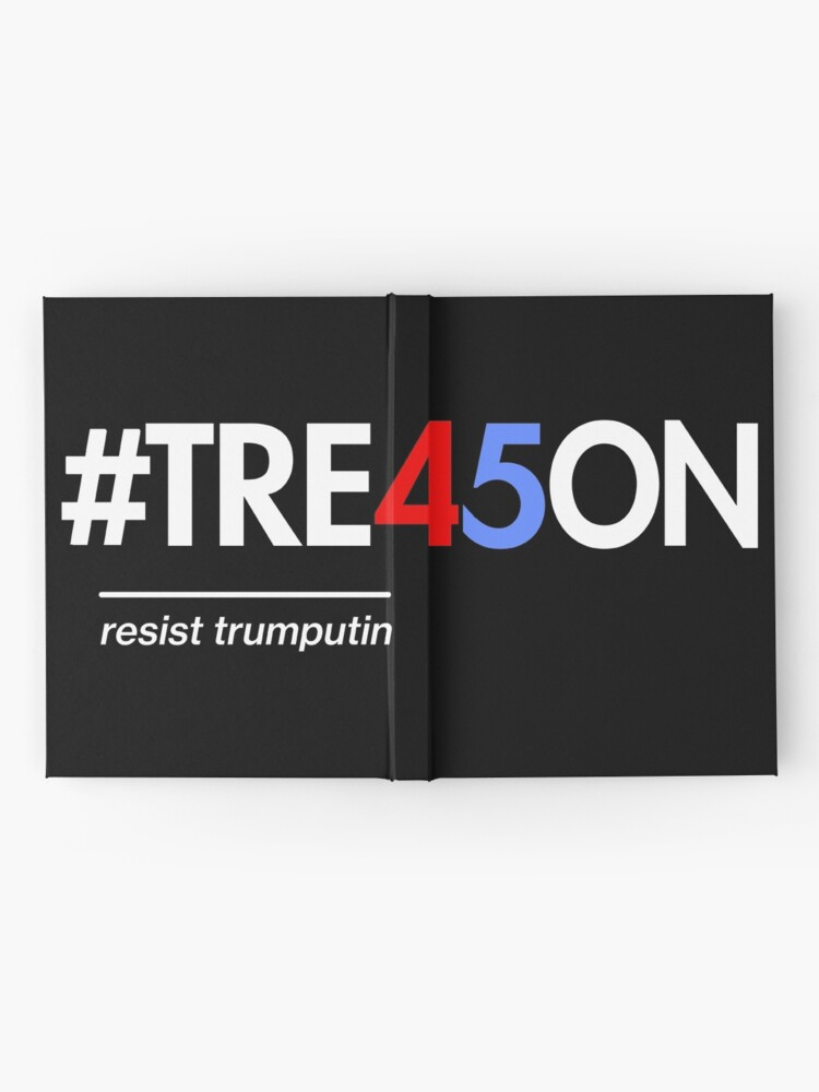 Alternative Ansicht von Anti-Trump Verrat 45 Shirt mit Tre45on Hashtag Notizbuch