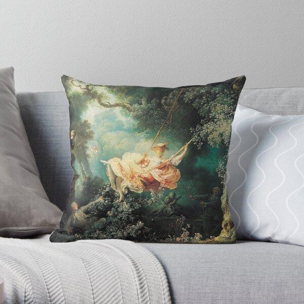 HD The Swing, by Jean-Honoré Fragonard HIGH DEFINITION Throw Pillow