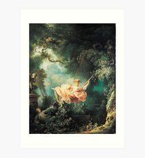 Lámina artística HD The Swing, de Jean-Honoré Fragonard ALTA DEFINICIÓN