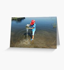 Best Fun Ever - Child Playing In Water Greeting Card