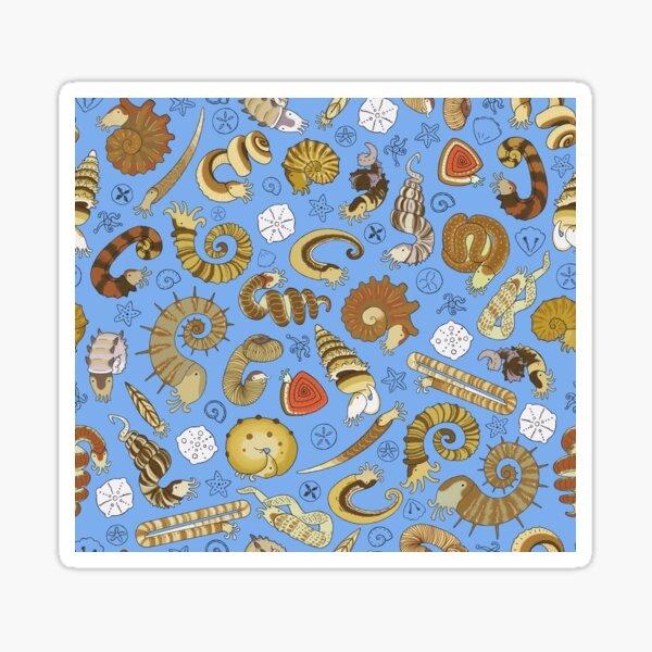 Ammonite pattern Sticker