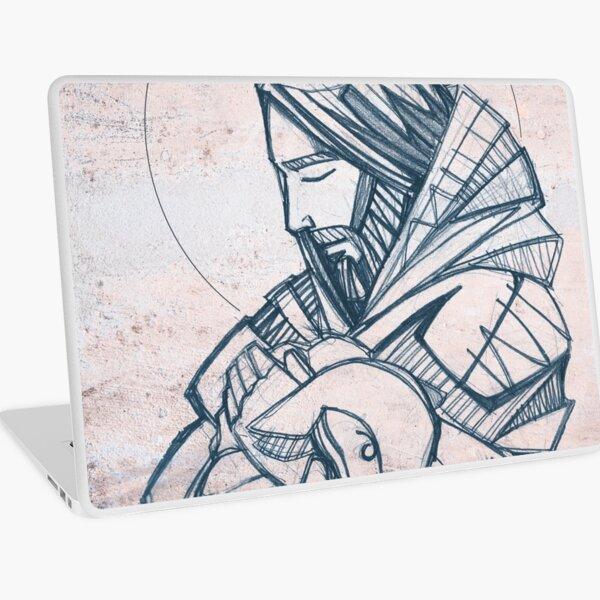 Jesus Christ Good Shepherd illustration Laptop Skin