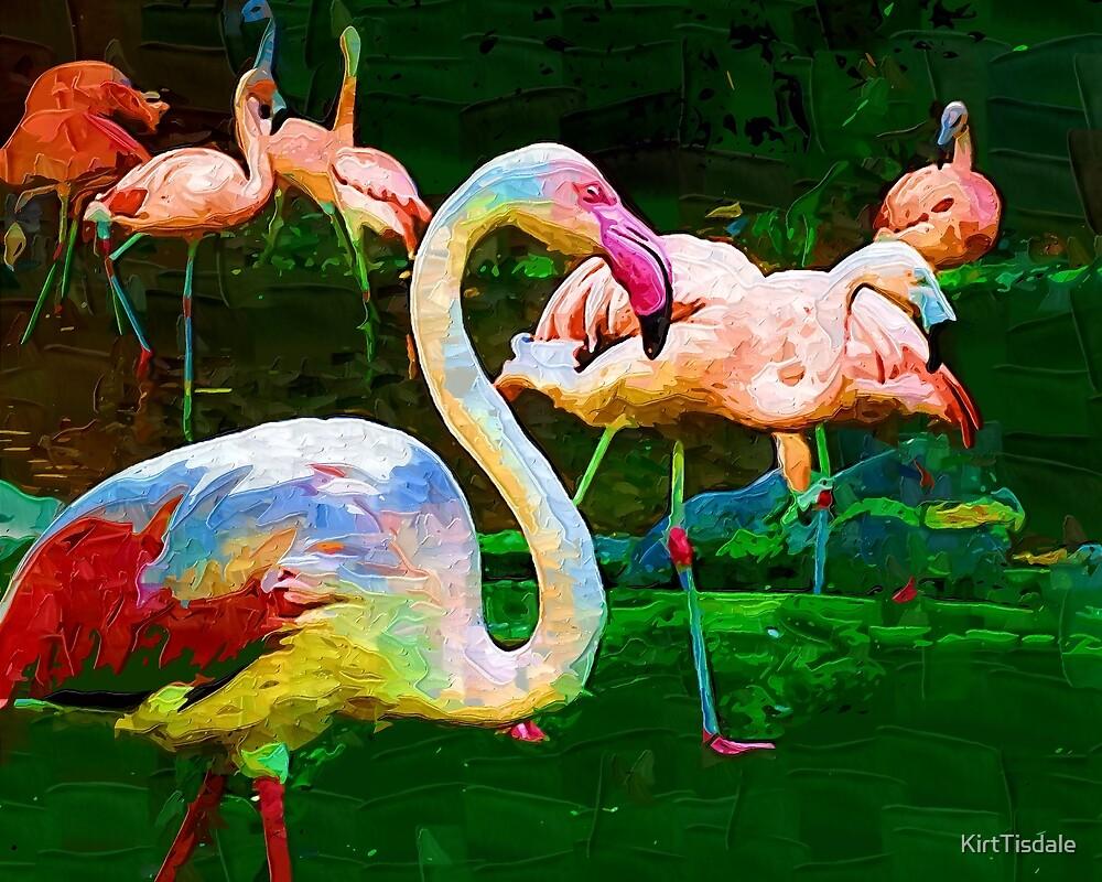 Impasto Flamingo by KirtTisdale