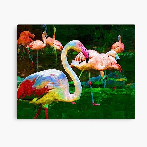 Impasto Flamingo Canvas Print