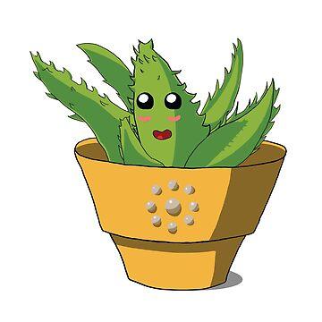 Cute Aloe Vera by partimesloth