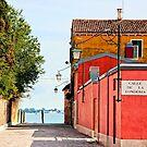 Quiet Cobblestone Alleyway In Venice, Italy by daphsam