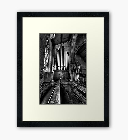 Many a Hymn (B&W) - The Garrison Church c.1843, The Rocks Sydney- The HDR Experience Framed Print