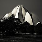 Lotus temple by Alexander Meysztowicz-Howen
