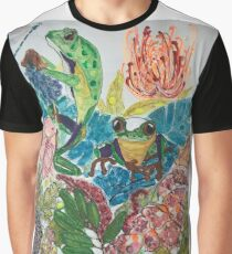 Frogs and dragonfly Graphic T-Shirt