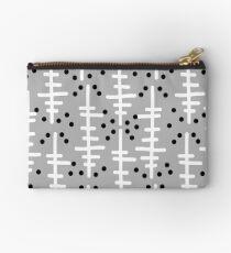 Helo - modern pattern design gift for college dorm decor trendy monochromatic grey neutral bold Studio Pouch