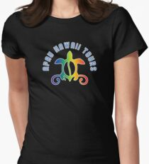 Apau Hawaii Tours - Collegiate Style Logo Women's Fitted T-Shirt