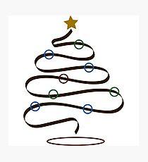 Ribbon Christmas Tree Photographic Print