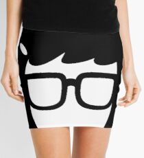 The Girl with the Glasses Mini Skirt