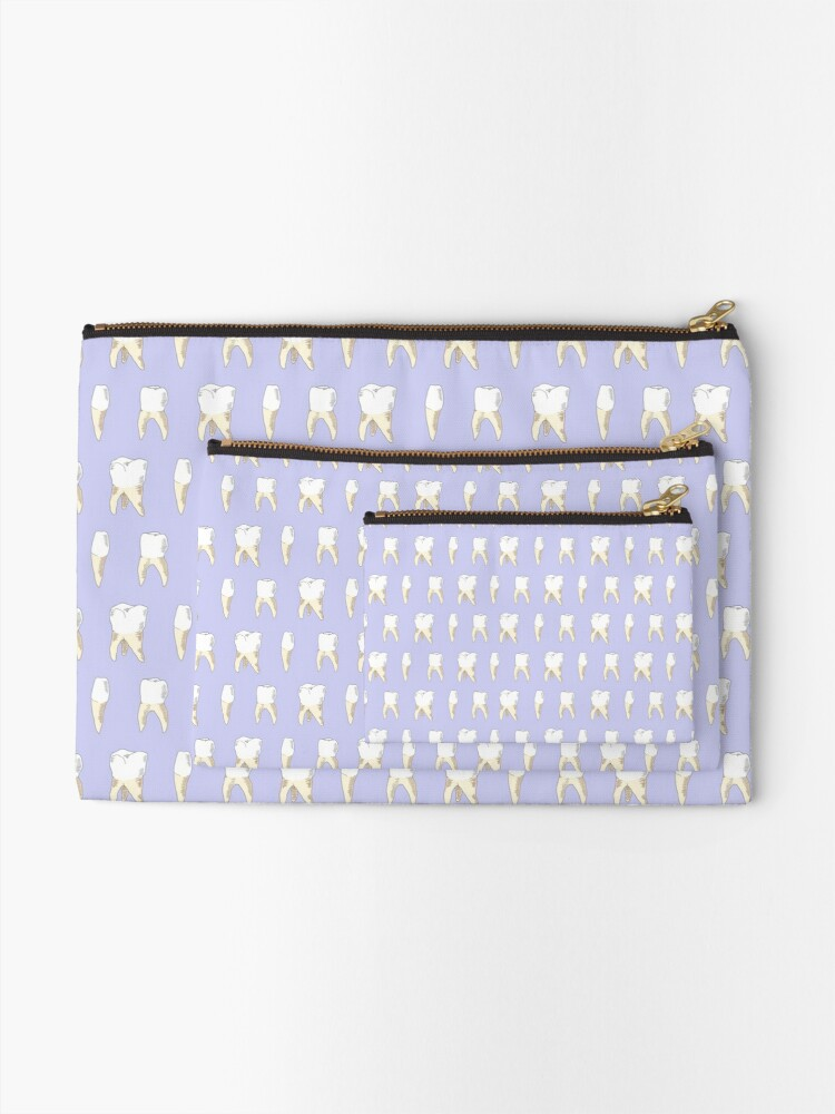 Alternate view of Teeth (Lilac) Zipper Pouch