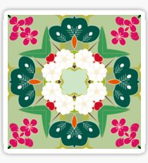 plant chiku conventional japan seamless colorful repeat pattern Sticker