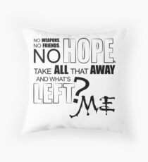 what s left Throw Pillow