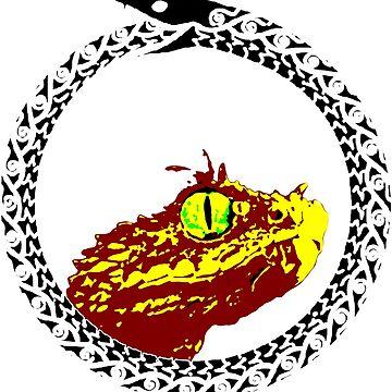 Laughing dragon lizard by hollowsaibot