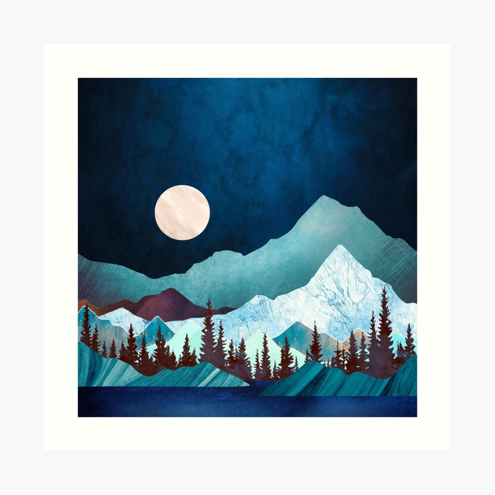 Moon Bay Art Print