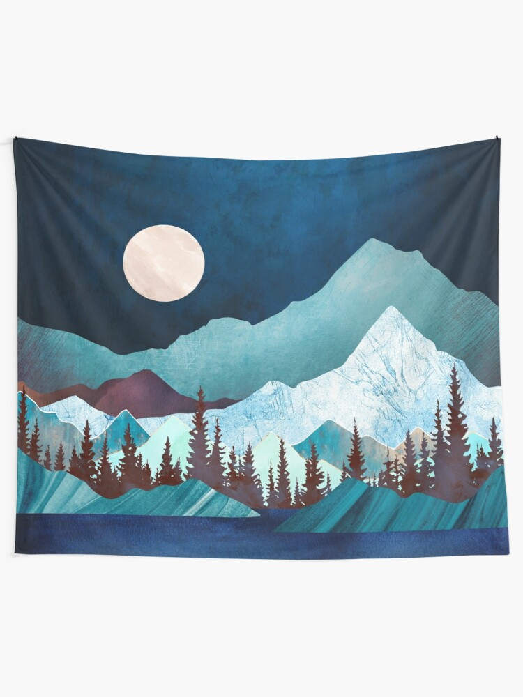 Alternate view of Moon Bay Wall Tapestry