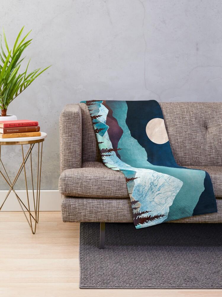 Alternate view of Moon Bay Throw Blanket